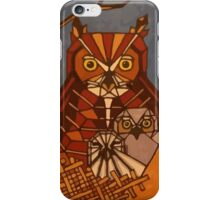 Great horned owl and babies iPhone Case/Skin