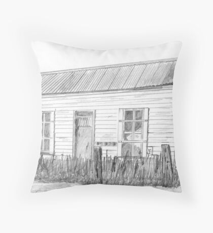 Early last century building Throw Pillow