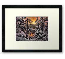 Winter Wounder Land ~ Big Lake ~ Framed Print
