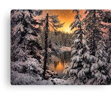 Winter Wounder Land ~ Big Lake ~ Canvas Print