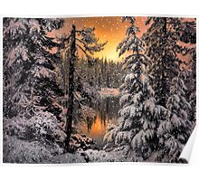 Winter Wounder Land ~ Big Lake ~ Poster