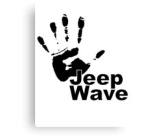 Jeep Wave black color design Canvas Print