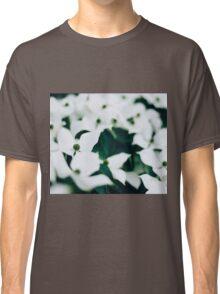 White elegant floral Classic T-Shirt