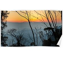 Megalong Sunset (large print) Poster