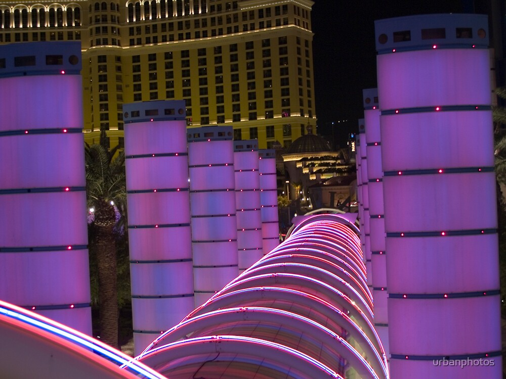Bally's Las Vegas Neon Rings in Violet by urbanphotos