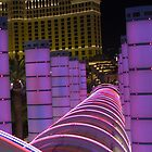 Bally&#x27;s Las Vegas Neon Rings in Violet by urbanphotos
