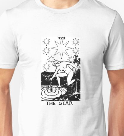 THE STAR - Tarot Card Design Unisex T-Shirt