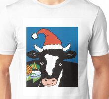 Christmas Cow Unisex T-Shirt