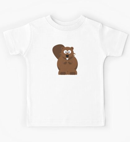Cute CoolCartoon Beaver - Funny Animals Drawing Popular Shirts And Gifts  Kids Tee
