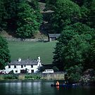 Canoist near Nab Cottage Rydal Water Lake District England 198405200020  by Fred Mitchell