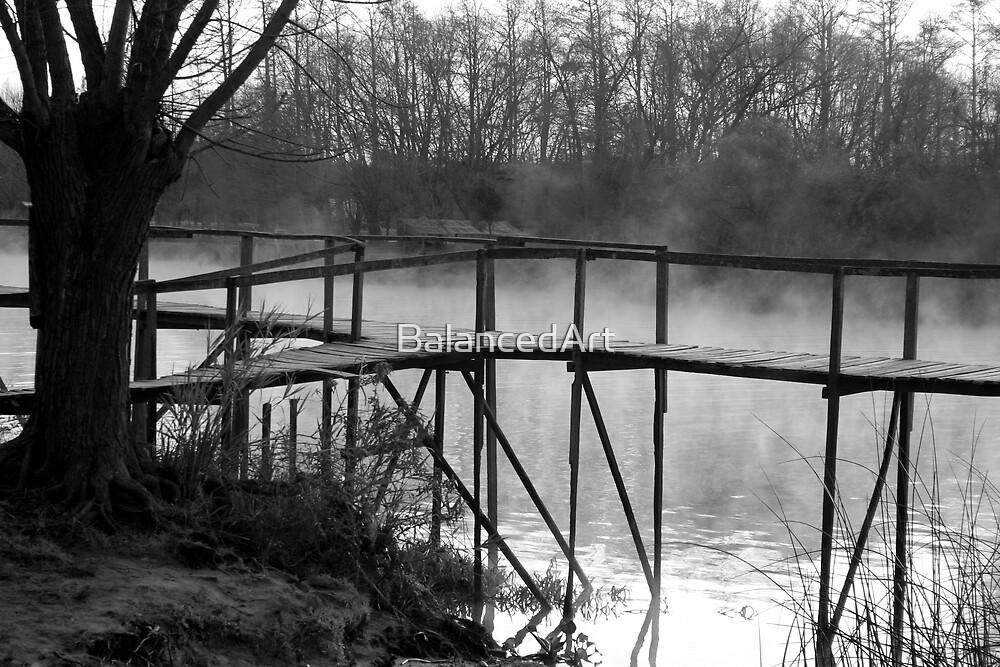 River Pier by BalancedArt