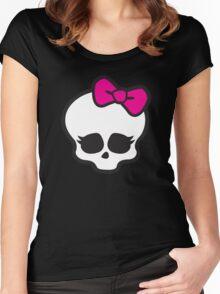 Monster High Skull Women's Fitted Scoop T-Shirt