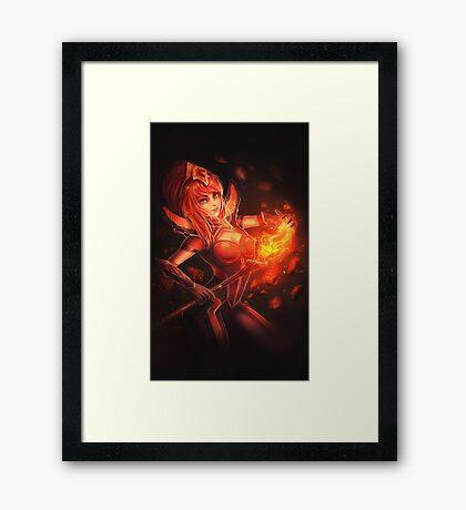 Elementalist Lux - Magma Framed Print