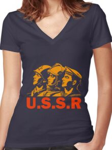 ARMED FORCES Women's Fitted V-Neck T-Shirt