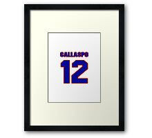 National baseball player Alberto Callaspo jersey 12 Framed Print