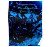 Hues of Blues Haiku Poster
