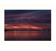 Corio Bay, Portarlington,Bellarine Peninsula Art Print