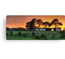 abandoned farm reworked Canvas Print