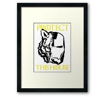 Protect House Stark Framed Print