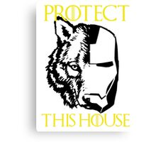 Protect House Stark Canvas Print