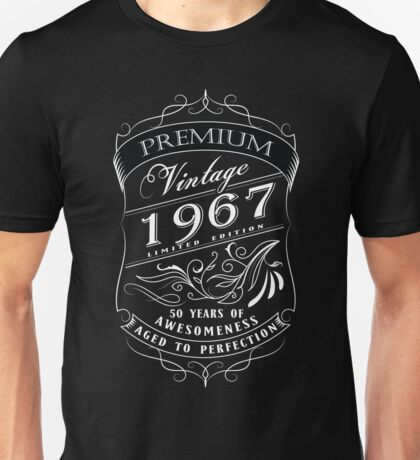 50th Birthday Gift T-Shirt Vintage Limited Born 1967 Edition Unisex T-Shirt
