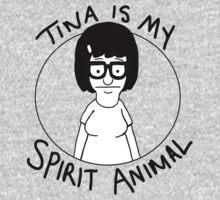 tina is my... spirit animal Kids Clothes