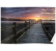 Broken Wharf Sunset Poster