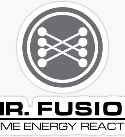 Mr Fusion Home Energy Reactor Sticker