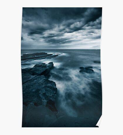Sea at Dusk Poster