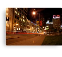 union square @ night Canvas Print