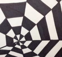 Crooked Optical Illusion Sticker