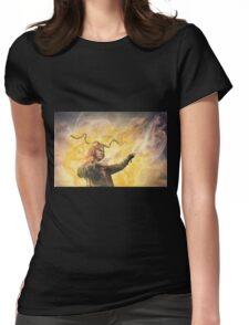 His Robes Are A Wind Of Invisible Voices Womens Fitted T-Shirt