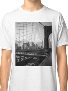 Manhattan view from the Brooklyn Bridge, New York City, NY Classic T-Shirt