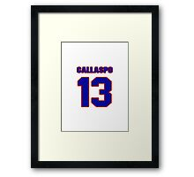 National baseball player Alberto Callaspo jersey 13 Framed Print