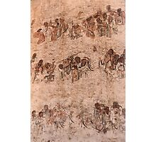 Bodhidharma and his followers wall paintings at Shaolin Temple art photo print Photographic Print