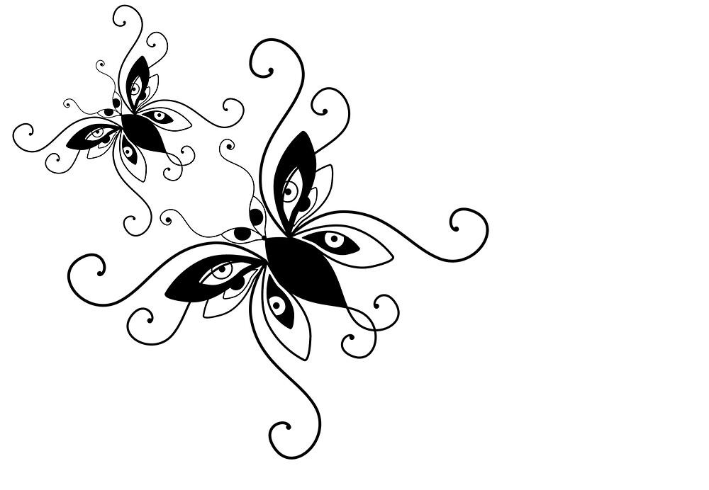 two butterflies by Carolyn