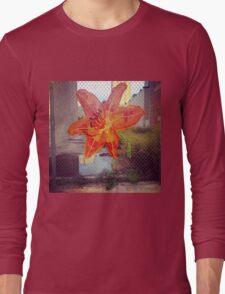 Yarn Art Flower in East Harlem, New York City Long Sleeve T-Shirt