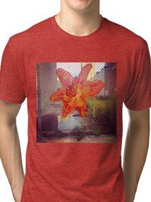 Yarn Art Flower in East Harlem, New York City Tri-blend T-Shirt