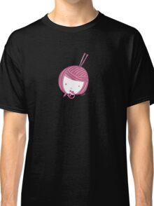 Pink Knit Classic T-Shirt