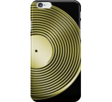Vinyl LP Record - Metallic - Gold iPhone Case/Skin