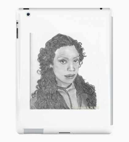 Zoe Washburn from Firefly/Serenity hand drawn in charcoal. iPad Case/Skin