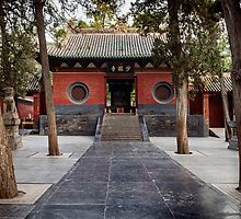 Shaolin Temple front entrance in DengFeng China art photo print by ArtNudePhotos