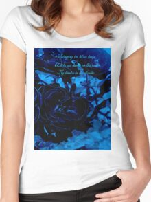 Hues of Blues Haiku Women's Fitted Scoop T-Shirt