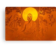 Artwork of Buddha with halo art photo print Canvas Print