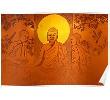 Artwork of Buddha with halo art photo print Poster