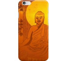 Artwork of Buddha with halo art photo print iPhone Case/Skin