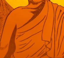 Artwork of Buddha with halo art photo print Sticker