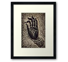 Vitarka Mudra Buddhist hand gesture art photo print Framed Print