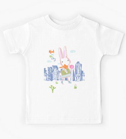 Hot In The City Bunny Kids Tee