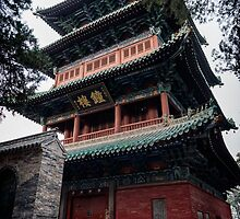 Bell tower of the Shaolin Temple in DengFeng China art photo print by ArtNudePhotos